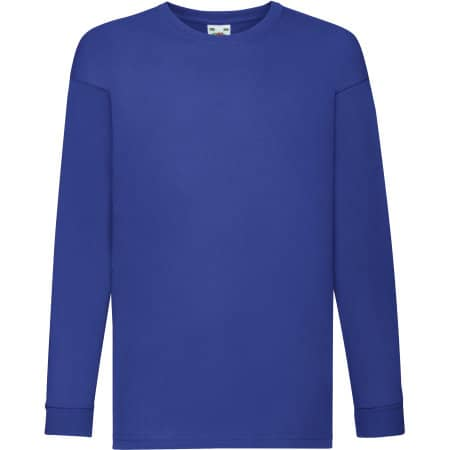 Long Sleeve Valueweight T Kids in Royal Blue von Fruit of the Loom (Artnum: F240K