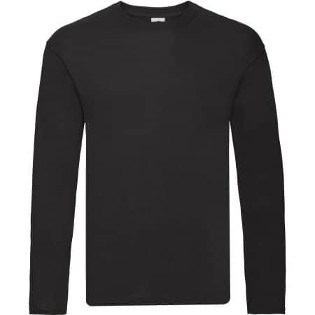 Original Long Sleeve T in Black von Fruit of the Loom (Artnum: F243