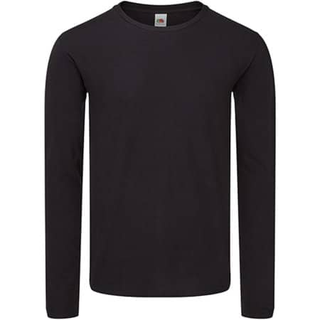 Iconic 150 Classic Long Sleeve T in Black von Fruit of the Loom (Artnum: F244