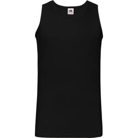 Athletic Vest in Black von Fruit of the Loom (Artnum: F260