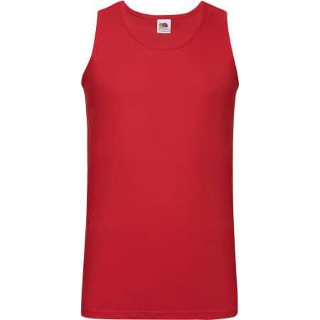 Athletic Vest in Red von Fruit of the Loom (Artnum: F260