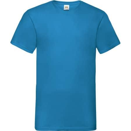 Valueweight V-Neck T in Azure Blue von Fruit of the Loom (Artnum: F270