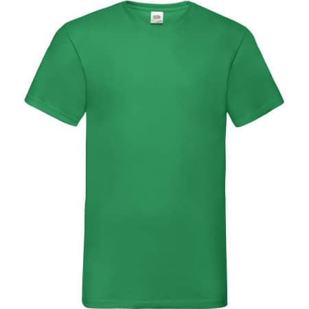 Valueweight V-Neck T in Kelly Green von Fruit of the Loom (Artnum: F270