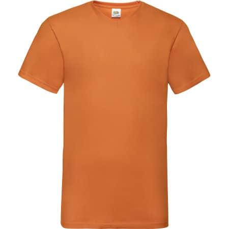 Valueweight V-Neck T in Orange von Fruit of the Loom (Artnum: F270