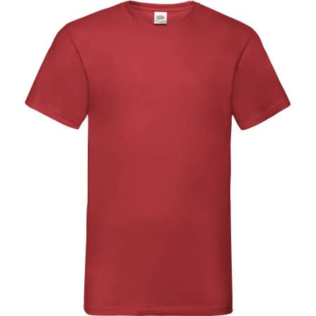 Valueweight V-Neck T in Red von Fruit of the Loom (Artnum: F270