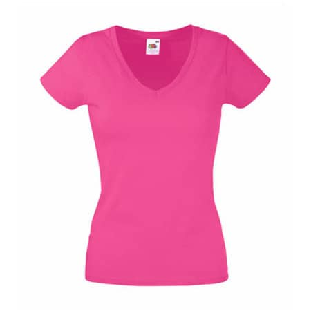 Valueweight V-Neck T Lady-Fit in Fuchsia von Fruit of the Loom (Artnum: F271N