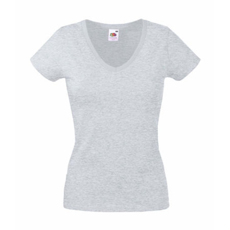 Valueweight V-Neck T Lady-Fit in Heather Grey von Fruit of the Loom (Artnum: F271N