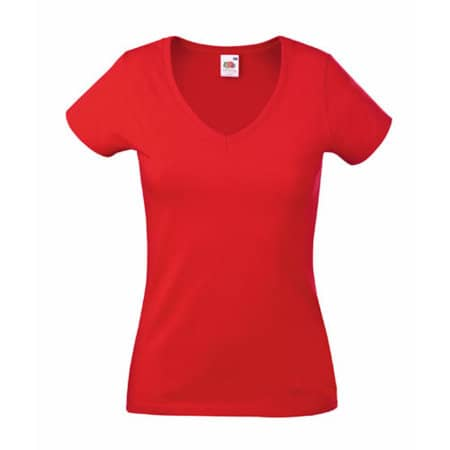 Valueweight V-Neck T Lady-Fit in Red von Fruit of the Loom (Artnum: F271N