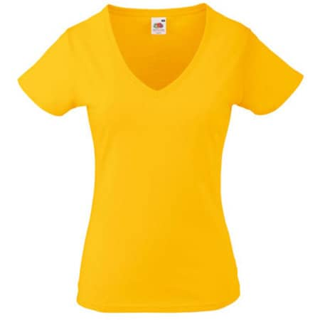 Valueweight V-Neck T Lady-Fit in Sunflower von Fruit of the Loom (Artnum: F271N