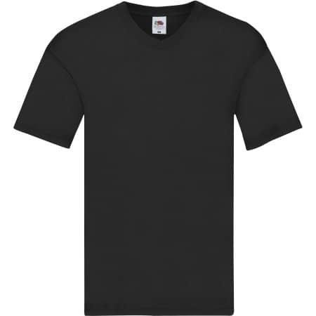 Original V-Neck T in Black von Fruit of the Loom (Artnum: F272