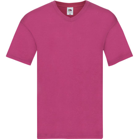 Original V-Neck T in Fuchsia von Fruit of the Loom (Artnum: F272
