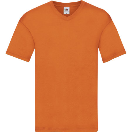 Original V-Neck T in Orange von Fruit of the Loom (Artnum: F272