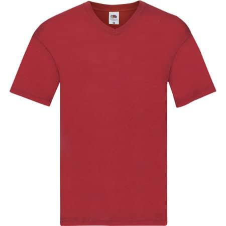 Original V-Neck T in Red von Fruit of the Loom (Artnum: F272