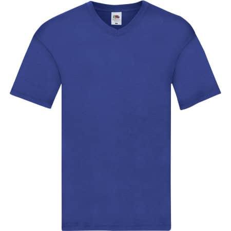 Original V-Neck T in Royal Blue von Fruit of the Loom (Artnum: F272