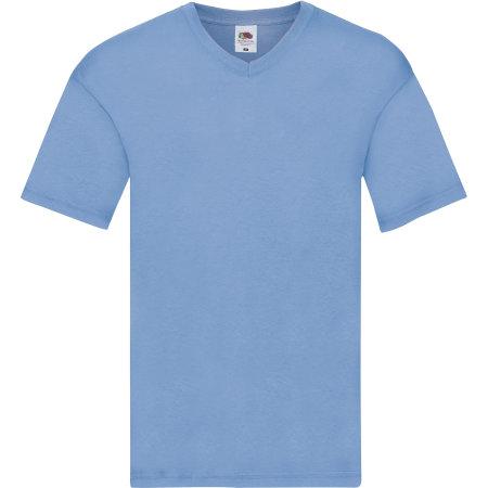 Original V-Neck T in Sky Blue von Fruit of the Loom (Artnum: F272