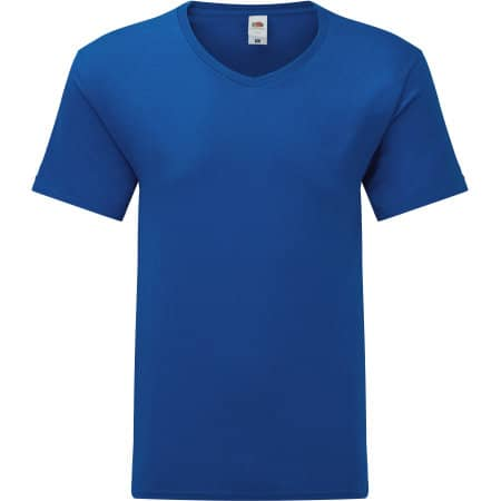 Iconic 150 V Neck T in Royal Blue von Fruit of the Loom (Artnum: F273
