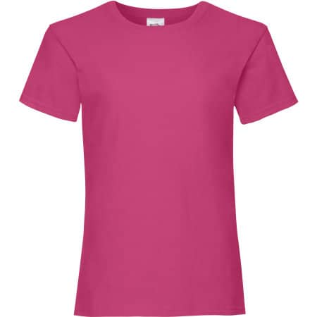 Valueweight T Girls in Fuchsia von Fruit of the Loom (Artnum: F288K