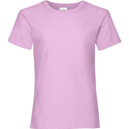 Valueweight T Girls in Light Pink von Fruit of the Loom (Artnum: F288K