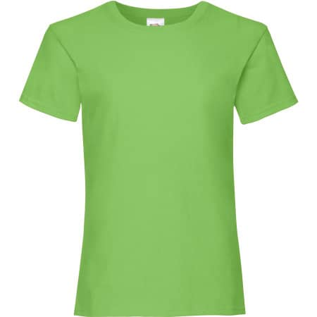 Valueweight T Girls in Lime von Fruit of the Loom (Artnum: F288K