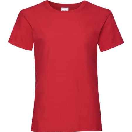 Valueweight T Girls in Red von Fruit of the Loom (Artnum: F288K