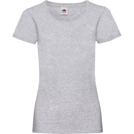 Valueweight T Lady-Fit in Heather Grey von Fruit of the Loom (Artnum: F288N