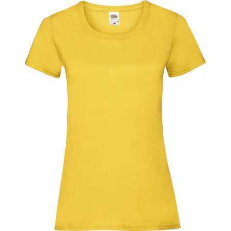 Valueweight T Lady-Fit in Sunflower von Fruit of the Loom (Artnum: F288N