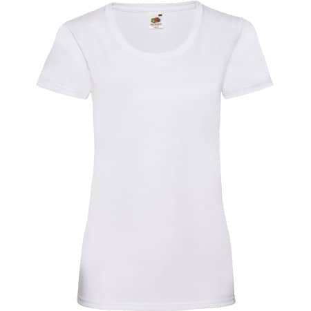 Valueweight T Lady-Fit in White von Fruit of the Loom (Artnum: F288N