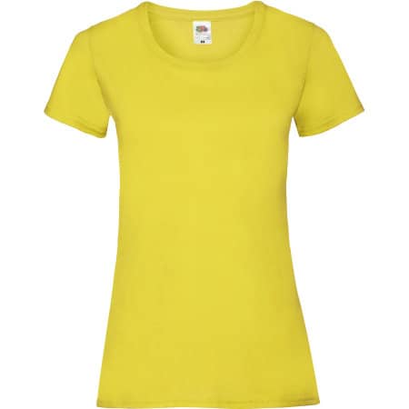 Valueweight T Lady-Fit in Yellow von Fruit of the Loom (Artnum: F288N