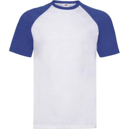 Shortsleeve Baseball T in White|Royal Blue von Fruit of the Loom (Artnum: F295
