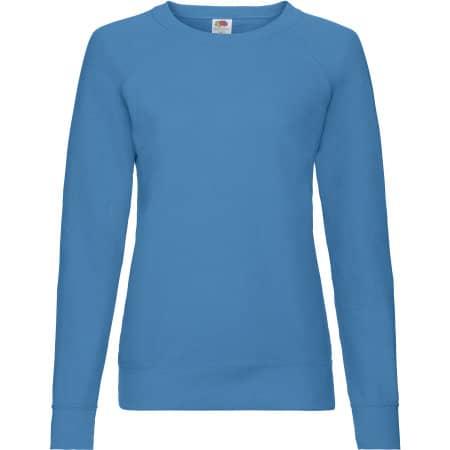 Lightweight Raglan Sweat Lady-Fit in Azure Blue von Fruit of the Loom (Artnum: F315