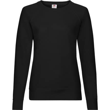 Lightweight Raglan Sweat Lady-Fit in Black von Fruit of the Loom (Artnum: F315