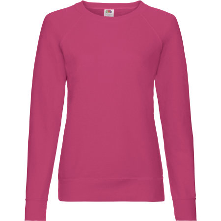 Lightweight Raglan Sweat Lady-Fit in Fuchsia von Fruit of the Loom (Artnum: F315