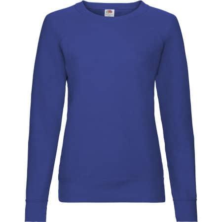 Lightweight Raglan Sweat Lady-Fit in Royal Blue von Fruit of the Loom (Artnum: F315