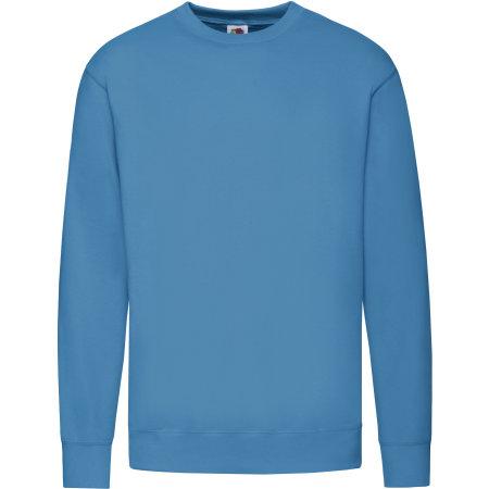 New Lightweight Set-In Sweat in Azure Blue von Fruit of the Loom (Artnum: F330