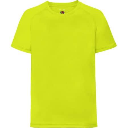 Performance T Kids in Bright Yellow von Fruit of the Loom (Artnum: F350K