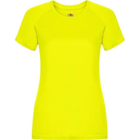 Performance T Lady-Fit in Bright Yellow von Fruit of the Loom (Artnum: F355