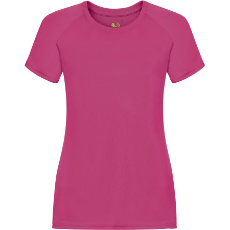 Performance T Lady-Fit in Fuchsia von Fruit of the Loom (Artnum: F355