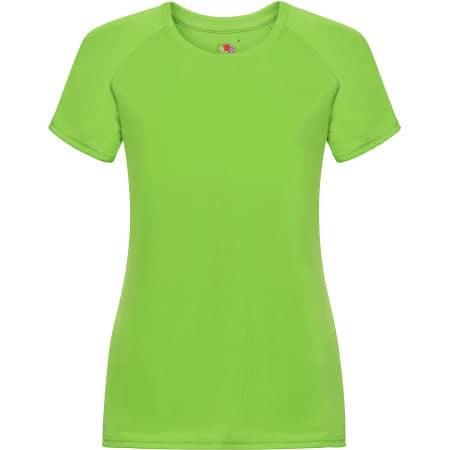Performance T Lady-Fit in Lime von Fruit of the Loom (Artnum: F355