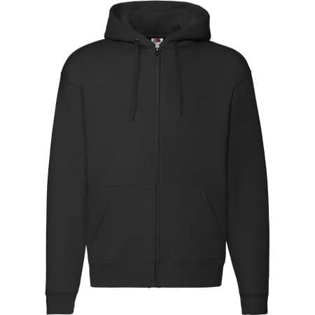 Premium Hooded Sweat-Jacket in Black von Fruit of the Loom (Artnum: F401