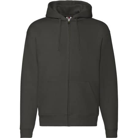 Premium Hooded Sweat-Jacket in Charcoal (Solid) von Fruit of the Loom (Artnum: F401