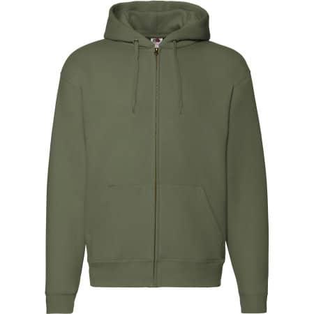 Premium Hooded Sweat-Jacket in Classic Olive von Fruit of the Loom (Artnum: F401