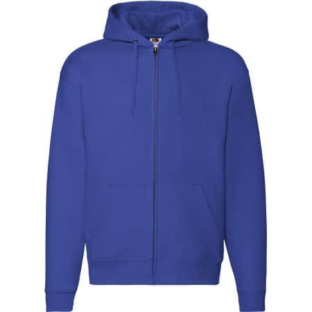 Premium Hooded Sweat-Jacket in Royal Blue von Fruit of the Loom (Artnum: F401