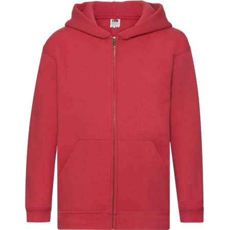Premium Hooded Sweat Jacket Kids von Fruit of the Loom (Artnum: F401K