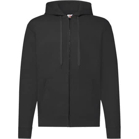 Classic Hooded Sweat Jacket in Black von Fruit of the Loom (Artnum: F401N