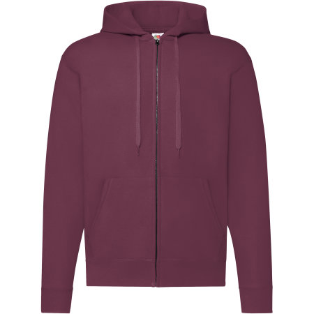 Classic Hooded Sweat Jacket in Burgundy von Fruit of the Loom (Artnum: F401N