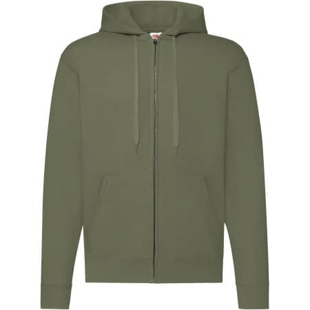 Classic Hooded Sweat Jacket in Classic Olive von Fruit of the Loom (Artnum: F401N