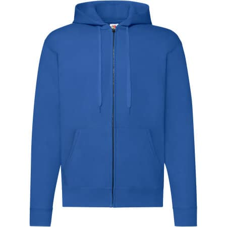 Classic Hooded Sweat Jacket in Royal Blue von Fruit of the Loom (Artnum: F401N