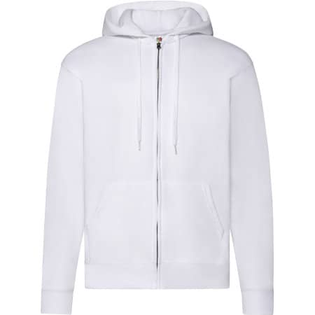 Classic Hooded Sweat Jacket in White von Fruit of the Loom (Artnum: F401N