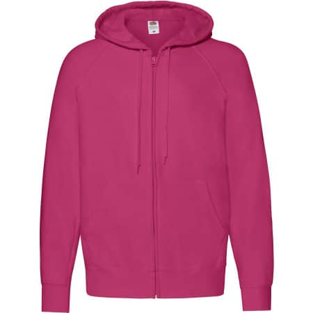 Lightweight Hooded Sweat Jacket in Fuchsia von Fruit of the Loom (Artnum: F407