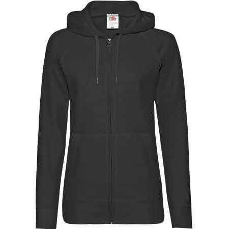 Lightweight Hooded Sweat Jacket Lady-Fit in Black von Fruit of the Loom (Artnum: F408
